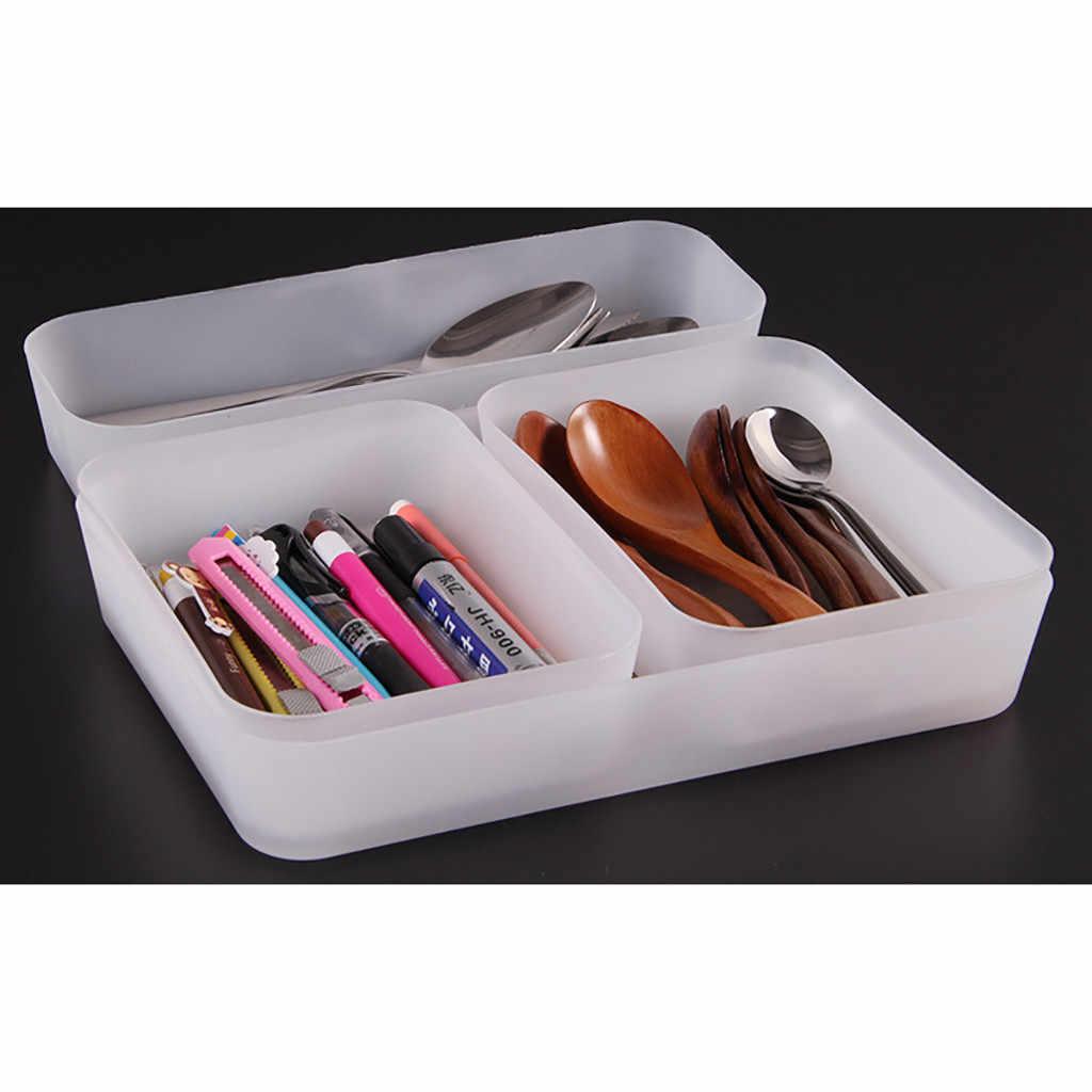 Einstellbare Schublade Kuche Besteck Teiler Fall Make Up Lagerung Box Startseite Organizer Xtn Aufbewahrungsboxen Behalter Aliexpress