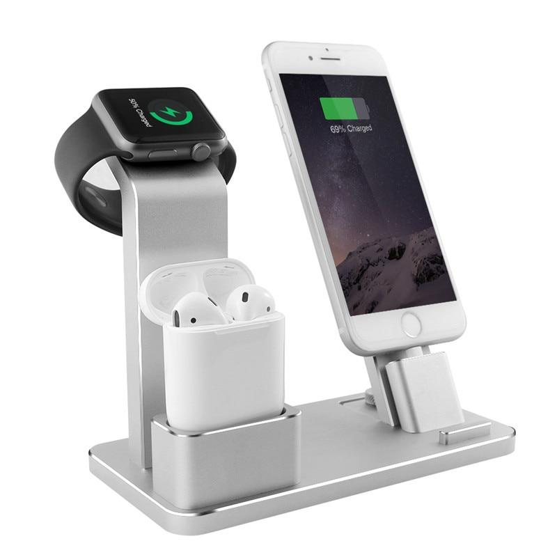 Support le plus vendu pour Apple Watch 4 en 1 AirPods accessoires Dock de chargement support pour téléphone pour série 2/1/iPhone X/XS/XS MaX/XR/7/8
