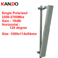 15dbi vertical polarization 120deg 2300 2700Mhz booster antenna Base station use FDD 4G TDD antenna 2.4G wifi panel antenna