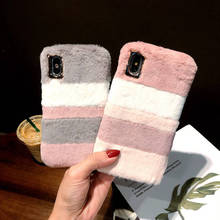 Color Matching Lazy Rabbit For Iphone 6 6s 7 8P X Xs Xr Max Plush Anti-Fall Mobile Phone Shell