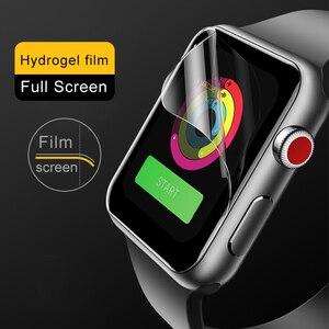 Image 5 - 2 pièces souple Hydrogel Film protecteur plein écran pour Apple Watch 5 38mm 42mm 40mm 44mm Film trempé pour iwatch 5/4/3/2/1 pas de verre
