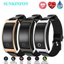 Купить с кэшбэком For iPhone 8 Plus X Smart Wristband Blood Pressure Heart Rate Monitor Pedometer Wrist Watch Intelligent Fitness Bracelet Tracker
