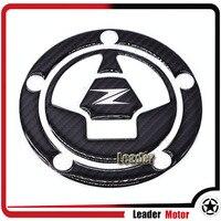 For KAWASAKI Z1000 Z1000SX Z800 Z750 Z250 Motorcycle Accessories 3D Carbon Fiber Tank Gas Cap Pad
