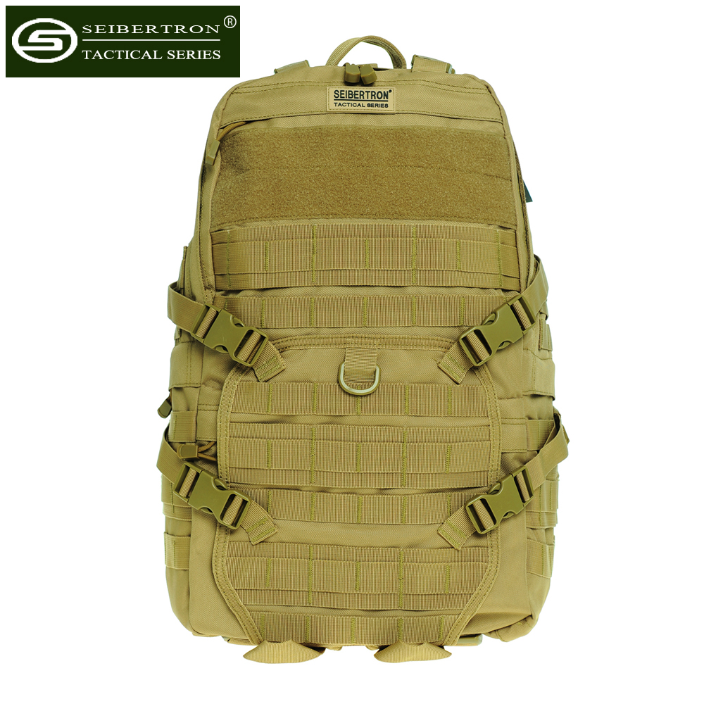 Seibertron Tactical Backpack Outdoor Hunting TAD Bag MOLLE for camping trip waterproof seibertron edc