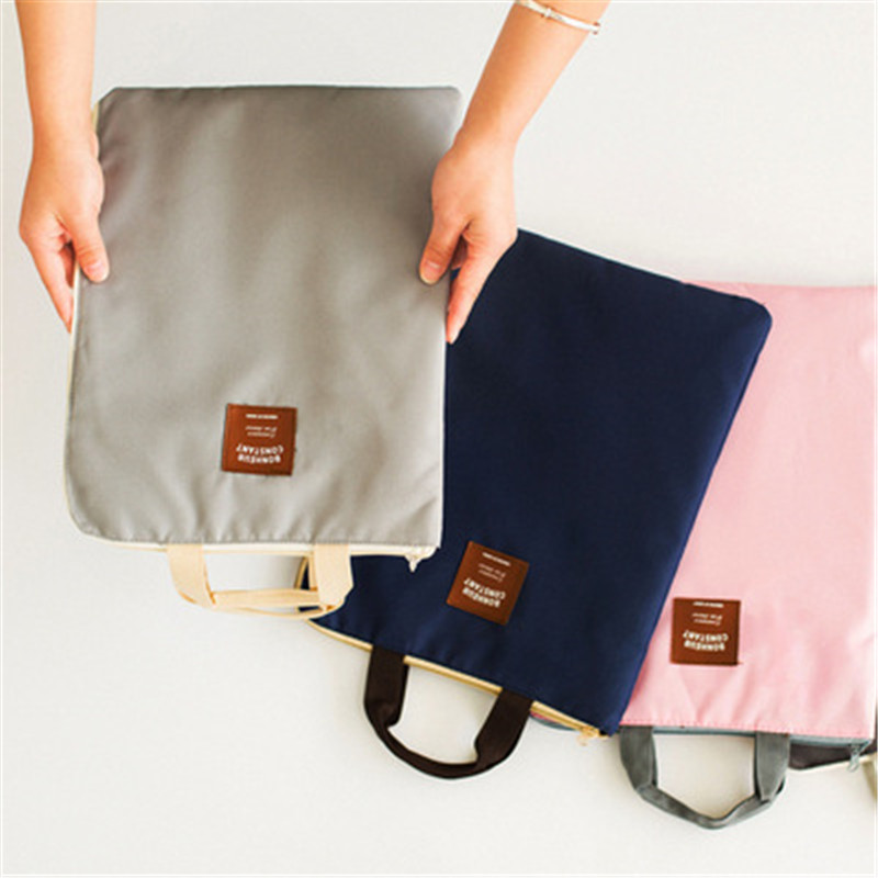 1pcs Large Canvas A4 File Folder Document Bag Business Storage Organizer Bag For IPad