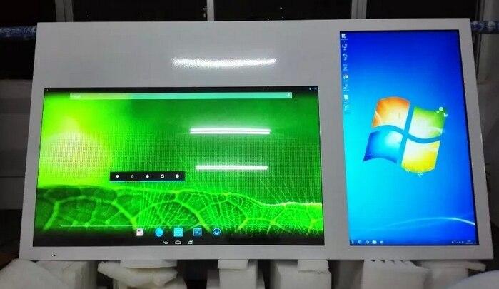 Double écran 42 55 pouces Android 4.4.4 Quad-core wifi lcd tft HDMI lecteur publicitaire studio graphique présentation tv tout en un bricolage pc - 3