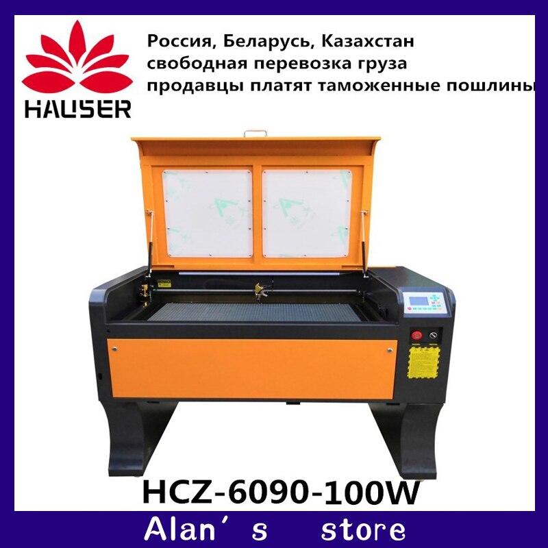 HCZ 9060 co2 grabador láser Ruida 100w 6090 máquina de grabado láser 220 v/110 v máquina de corte láser máquina de grabado láser cnc