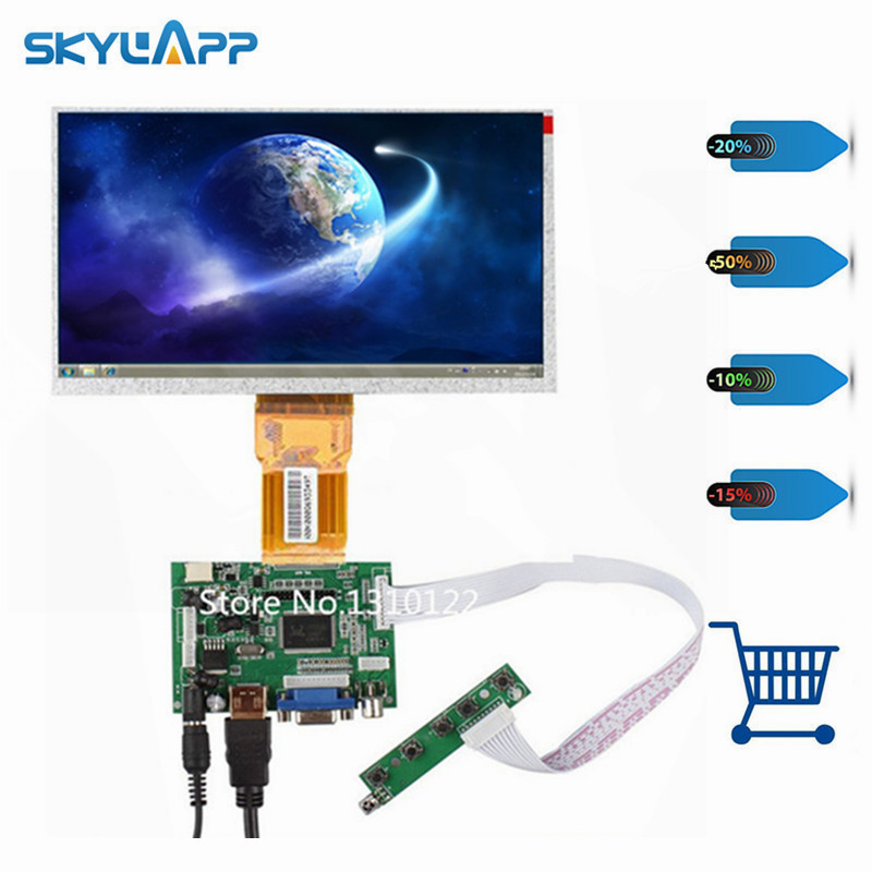 Skylarpu Raspberry Pi LCD Display Screen TFT Monitor for AT090TN12 with HDMI VGA Input Driver Board Controller (without touch) skylarpu 7 inch lcd display with touch tft monitor for at070tn93 with hdmi vga input driver board controller for raspberry pi