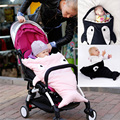 Baby Stroller Sleeping Bag Cute Cartoon Shark Sleep Bag Baby Blanket Warm Swaddle Cotton Suitable For Yoya Stroller