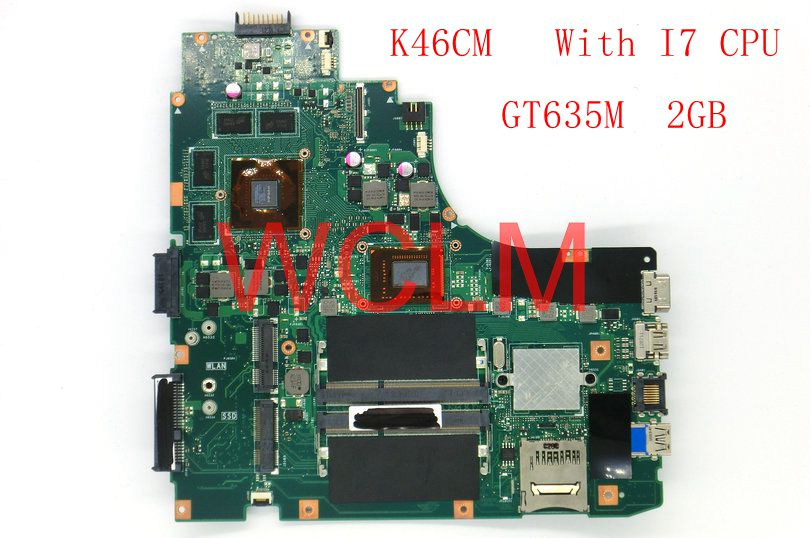 <font><b>K46CM</b></font> With I7 CPU GT635M 2GB mainboard For ASUS A46C K46C K46CB <font><b>K46CM</b></font> laptop motherboard 100% Tested Working Well free shipping image