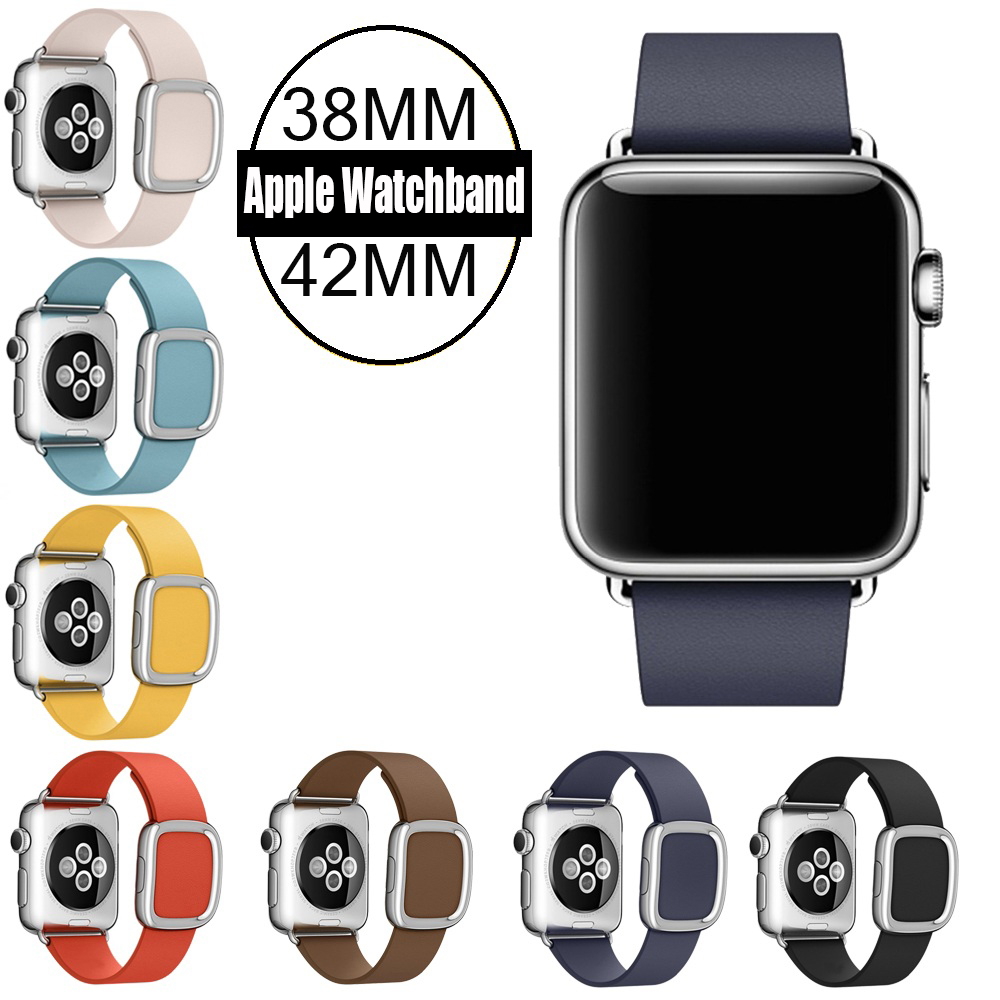 For Apple Watch Band Modern Buckle Band for iWatch bracelet 38MM 42MM Smooth Granada leather with