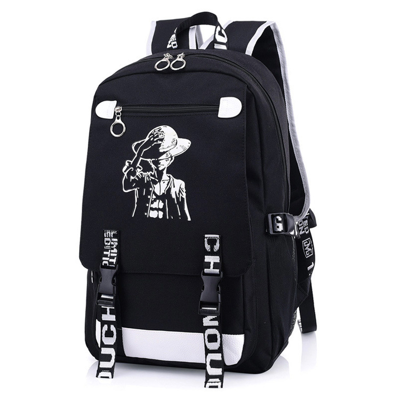 Japan One Piece Monkey D. Luffy Straw Hat Backpack Rucksack Bag School Travel Book Bags Mochila Anime Gift