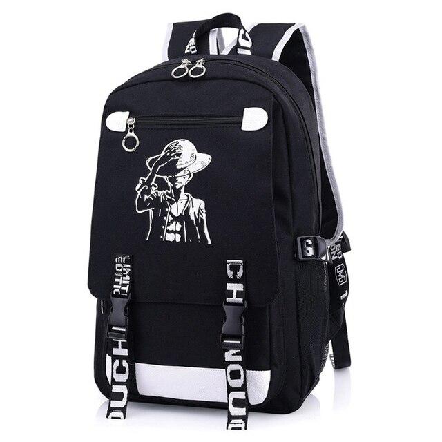 9f35c17ade25 Japan One Piece Monkey D. Luffy Straw Hat Backpack Rucksack Bag School  Travel Book Bags Mochila Anime Gift