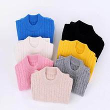 Zima wysokiej jakości sweter z kaszmiru dla dziewczynek sweter sweter dzieci ciepłe dzieci Cardigan chłopcy sweter z wełny sweter 100-170 cm tanie tanio Na co dzień Akrylowe CASHMERE Pełna PATTERN Stałe REGULAR None O-neck T901 Pasuje prawda na wymiar weź swój normalny rozmiar