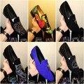FRESCO TIRO Strass Hombres Mocasines de Ante Negro Tigre Zapatillas de Diamantes de Imitación Del Banquete de Boda Zapatos de Vestir de Los Hombres de la Borla de Pisos Leathe Genuino