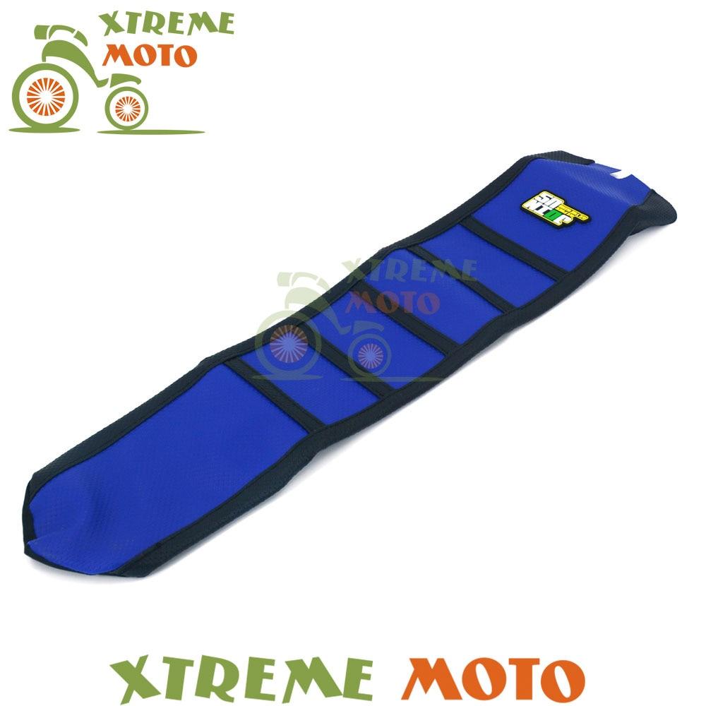 Blue Rubber Vinyl Motorcycle Gripper Soft Seat Cover For Husqvarna TC FC 2016 2017 боксмод sigelei fuchai 213w tc blue силик чехол