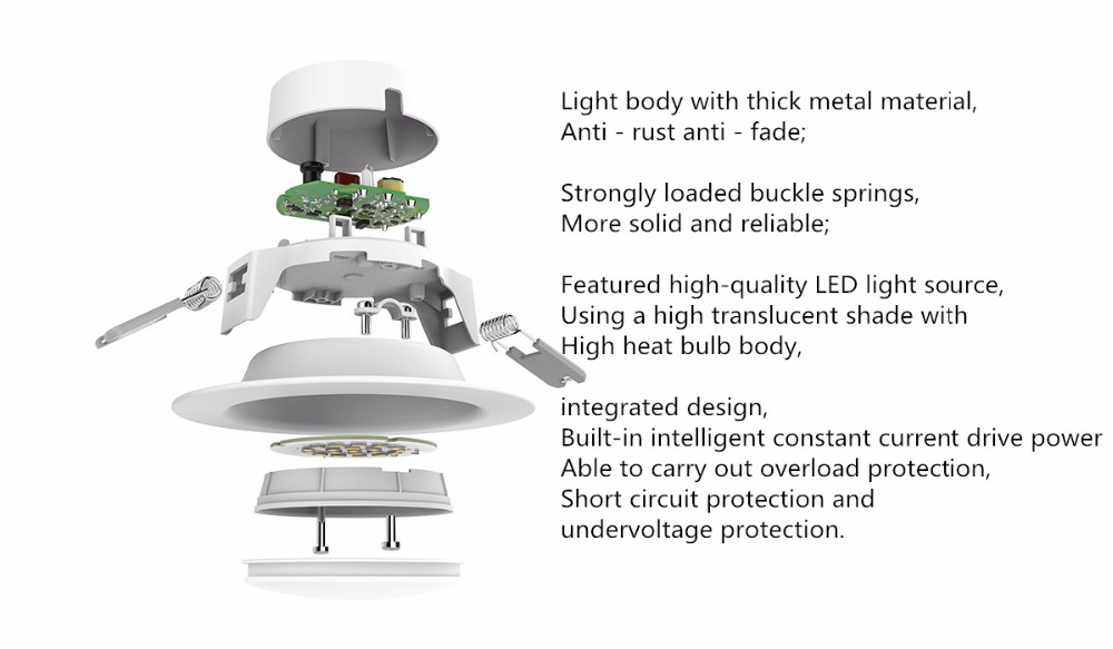 Image 4 - Original xiaomi mijia yeelight led downlight Warm Yellow Cold white Round LED Ceiling Recessed Light Not xiaomi smart home light-in Smart Remote Control from Consumer Electronics