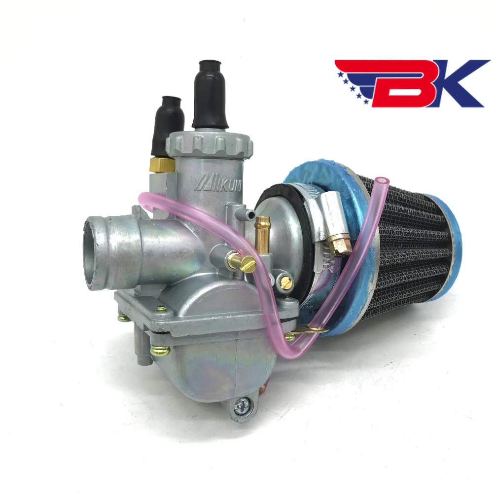 PZ20 22mm Mikuni Carburetor W/ Air Filter For 2 Stroke Motorcycle Scooter Suzuki AX100 QJ100-M KW100-M