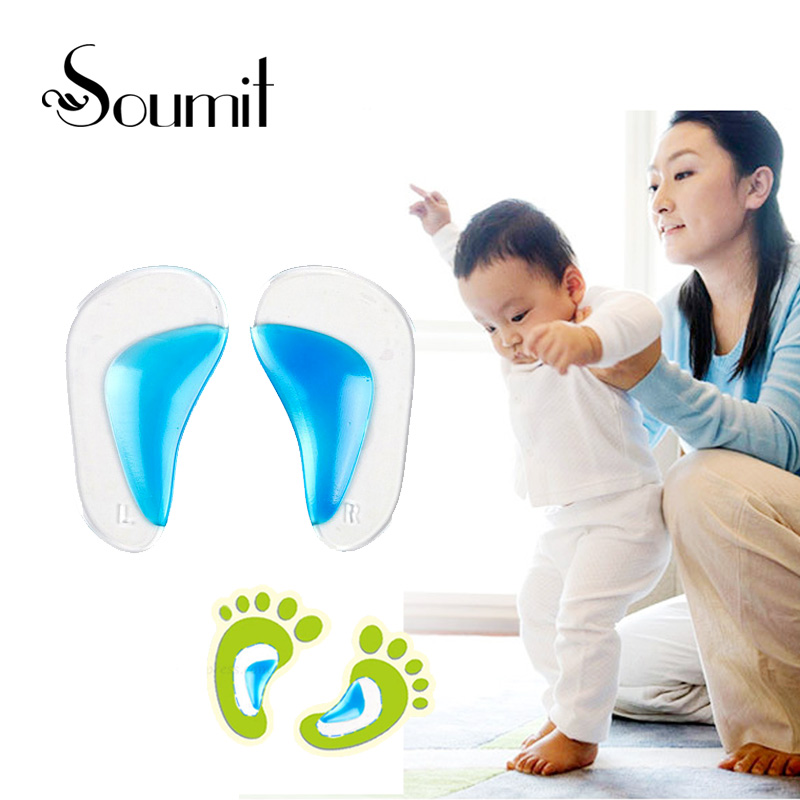 Soumit Kids Gel Orthotic Orthopedic Insoles for Children Shoes Flatfoot Corrector Arch Support Orthotic Pads Baby Toddler Insole kids children pu orthopedic insoles for children shoes flat foot arch support orthotic pads correction health feet care w046