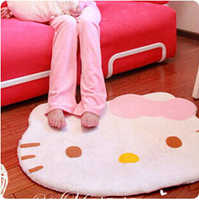 100% Coral fleece Hello kitty carpet cute cat floor mat carpets for living room modern bathroom carpet 85*70cm