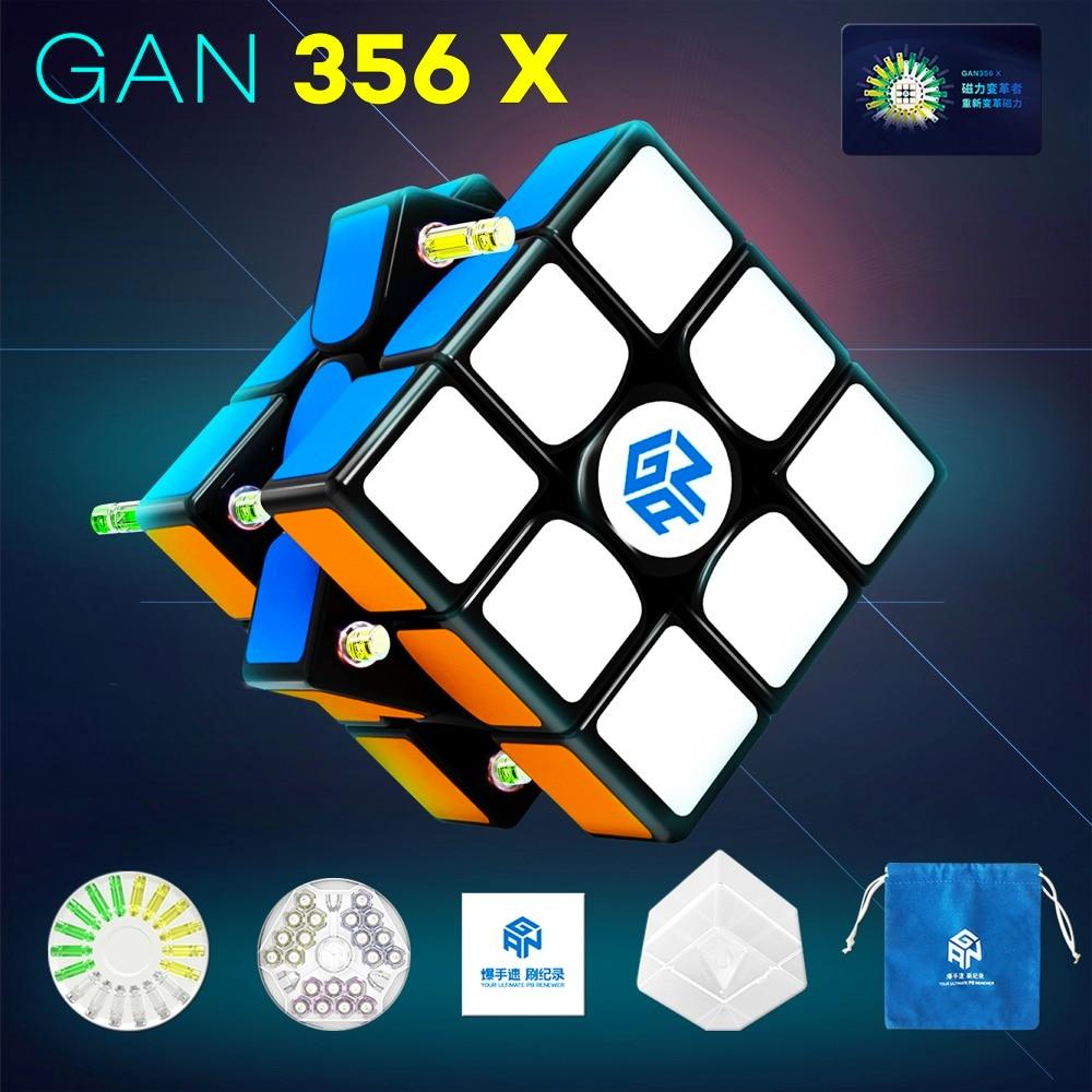 D-FantiX Gan 356 x Magique Cube Gan 356x Magnétique Cube 3x3x3 Vitesse puzzle de cubes Professionnel 3x3 Jouets pour Enfants Adultes