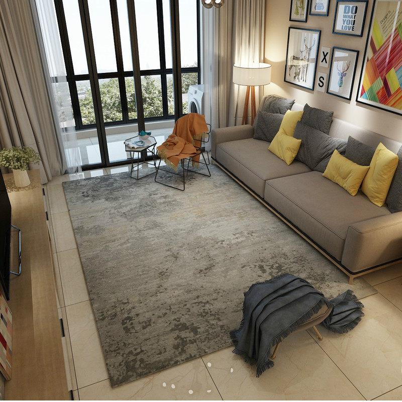 مجردة الحبر الحديثة السجاد ل غرفة المعيشة ديكور المنزل السجاد غرفة نوم أريكة طاولة القهوة البساط لينة دراسة الكلمة حصيرة بجانب سجاد-في سجاد من المنزل والحديقة على  مجموعة 3