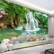 beibehang Custom Photo Wallpaper Mural Wall Sticker Stereo Landscape Waterfall Landscape 3
