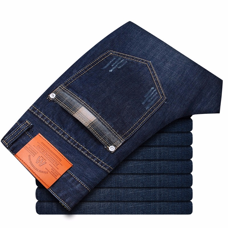2019 Four Seasons New Style Men's Casual High Quality Slim Fit Trousers Elastic Men Jeans Fashion Classic Denim Skinny Jeans Men