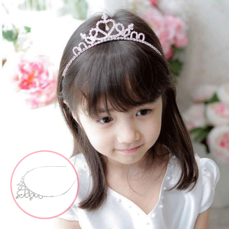 Детская лента для волос с кристаллами тиара на голову для девочек свадебная корона принцессы из страз вечерние аксессуары Принцесса Выпуск...