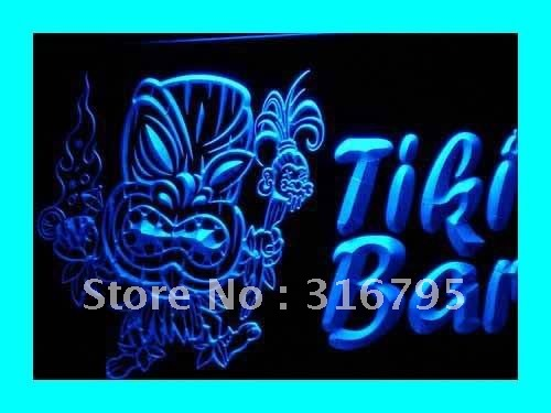 i299 Newest Tiki Bar Pub Mask Beer NR LED Neon Light Sign On/Off Swtich 20+ Colors 5 Sizes