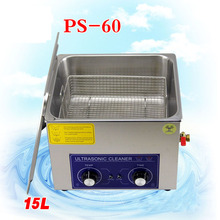 1PC ultrasonic cleaner 15L AC110/220V PS-60 clean the king of the circuit board ,metal parts cleaning equipment