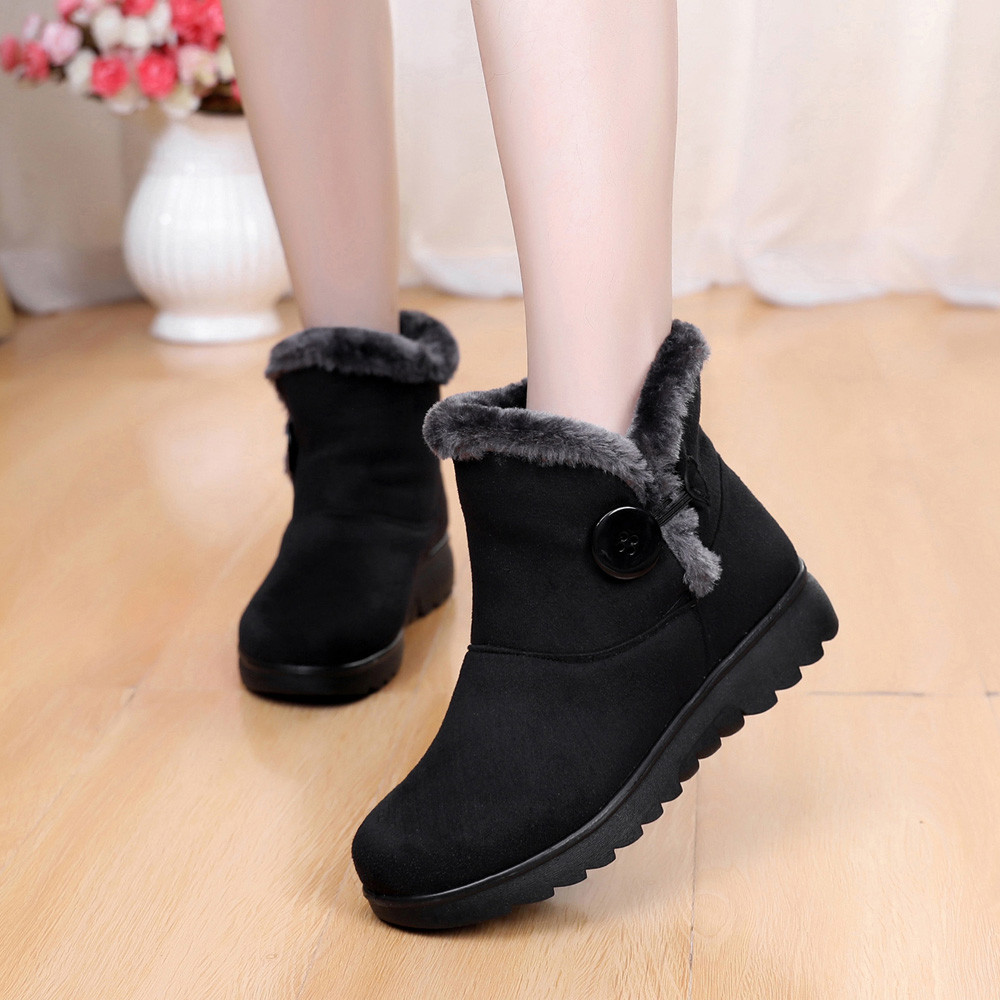 2018 Newest Womens Ladies Winter Ankle Martin Short Snow Boots Fur Footwear  Warm Shoes-in Ankle Boots from Shoes on Aliexpress.com  13e10c661