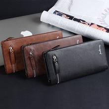 Baellerry Men Wallet Leather Male Clutch Bag Big Capacity Wallet Men Long Multifunction Wallet With Zipper Pocket Man Purse W025