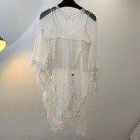 2019 новая женская мода сплошной цвет белое вышитое кружево блузка 0330