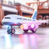 Airplane Airbus Model Toy Children Early Educational Story Machine Sound Light Toys Aircraft Model Outdoor DIY Educational Toy