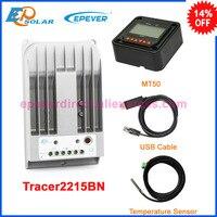Солнечный MPPT Tracer2215BN 20A 20amp регулятор EPSolar epever зарядки контроллера MT50 + кабель USB датчик температуры