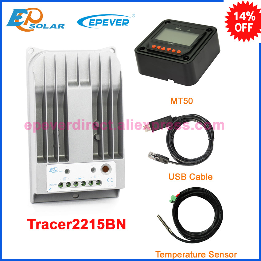 Solar mppt Tracer2215BN 20A 20amp regulator EPSolar EPEVER charging controller MT50+USB cable temperature sensor Solar mppt Tracer2215BN 20A 20amp regulator EPSolar EPEVER charging controller MT50+USB cable temperature sensor