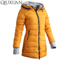 2016 Warm Winter Jackets Women Fashion Down Cotton Parkas Casual Hooded Long Coat Thickening Zipper Cotton