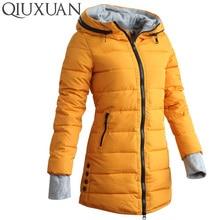 2016 Warm Winter Jackets Women Fashion Down Cotton Parkas Casual Hooded Long Coat Thickening Zipper Cotton Slim Plus Size Parka