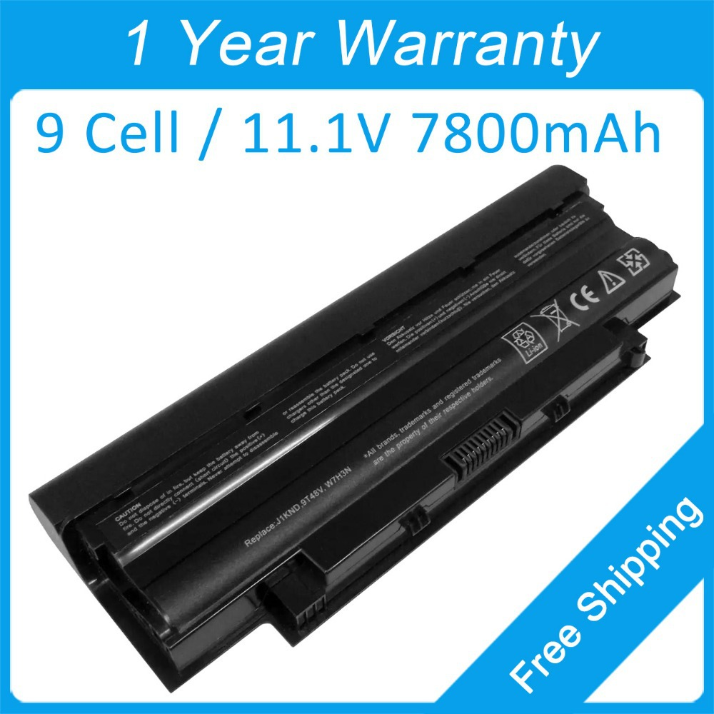 New 9 cell laptop battery for dell Inspiron M5030 N3110 N4010 N4110 M5010R N5030R 09T48V 09TCXN 0J1KND 312-0233 451-11510 image