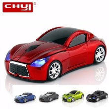 CHYI Wireless Mini Car Shape Computer Mouse Ergonomic 3D Gamer Mause Optical Usb Gaming Mice With LED Light For Mac PC Laptop
