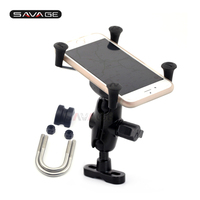 Universal Motorcycle 22mm 7/8/ 28mm 1 1/8 Handlebar iPhone / GPS Navigation Frame Phone Holder Support Accessories ABS