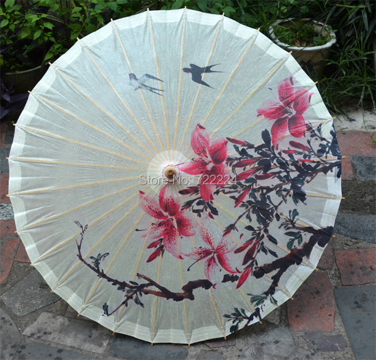 Ancient Spring Swallows Parasols Oil Paper Handmade Traditional Bamboo Craft Waterproof Parasol Japanese Wedding umbrella dia 84cm chinese handmade red plum blossom oil paper umbrella ancient waterproof sunshade parasol decoration gift dance umbrella