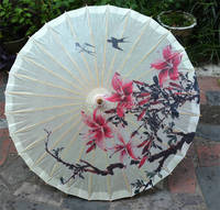 Free Shipping Chinese Craft Dia 84cm Antique Handmade Double Swallows Return Picture Collection Props Oiled Paper