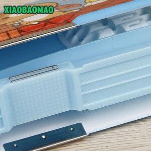 Image 5 - Aperto del doppio dei bambini multi funzione di stile del fumetto contenitore di matita con la calcolatrice + calcolare perline cassa di matita della cancelleria regalo