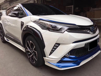 For CHR Body Kits FRONT LIP BUMPER SPOILER AND REAR TRUNK DIFFUSER AND SIDE SPLITTERS COVER FOR TOYOTA C HR CHR 2016 2017 2018