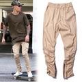Calle chándal moda cremallera lateral TEMOR DE DIOS mismo con Justin bieber pantalones delgados hombre y mujer pantalones