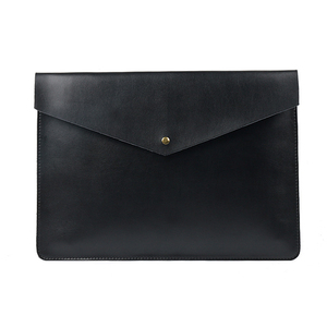 Image 1 - A4 Document Holder Nature Leather File Folder for Documents Bag Case With Buckle Paper Storage Office School Filing Supplies