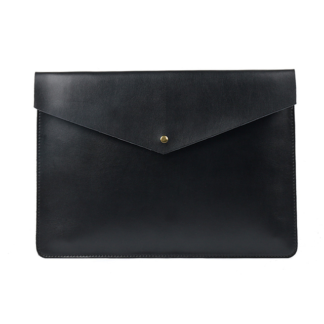 A4 Document Holder Nature Leather File Folder for Documents Bag Case With Buckle Paper Storage Office School Filing Supplies