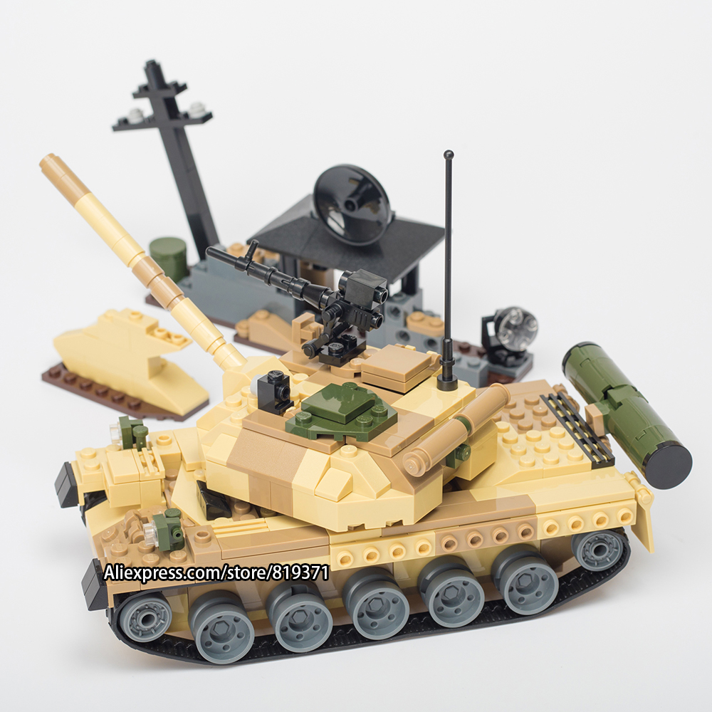 372pcs War Weapon Tanks model Military Building Blocks Bricks blocks Toys for children Kids Compatible with legoeINGlys 600019 xinlexin 317p 4in1 military boys blocks soldier war weapon cannon dog bricks building blocks sets swat classic toys for children